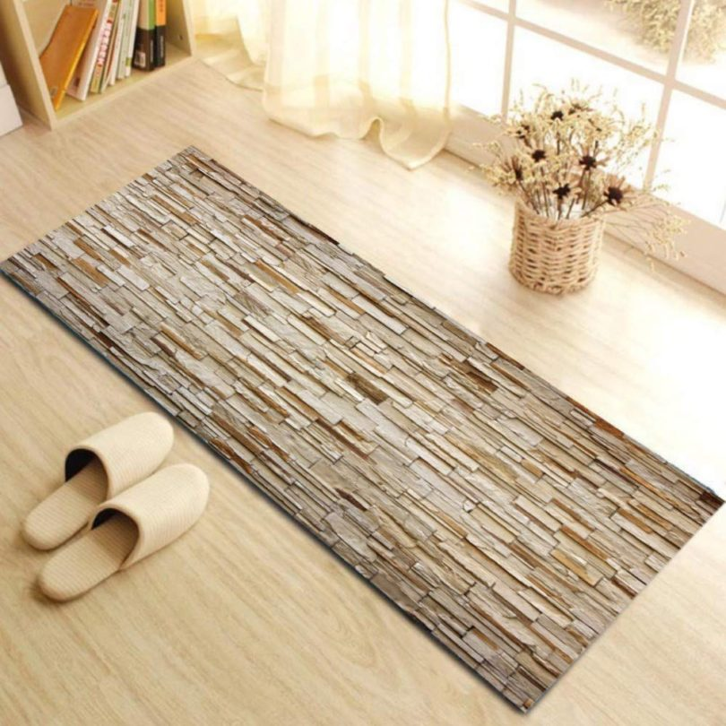 Long Modern Non-Slip Kitchen Rug