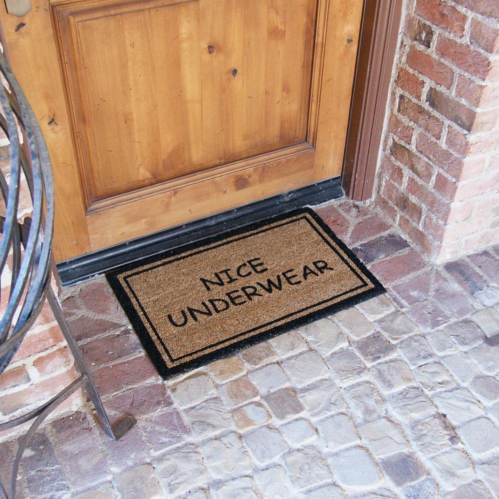 """Rubber-Cal """"Nice Underwear Funny Door Mat"""