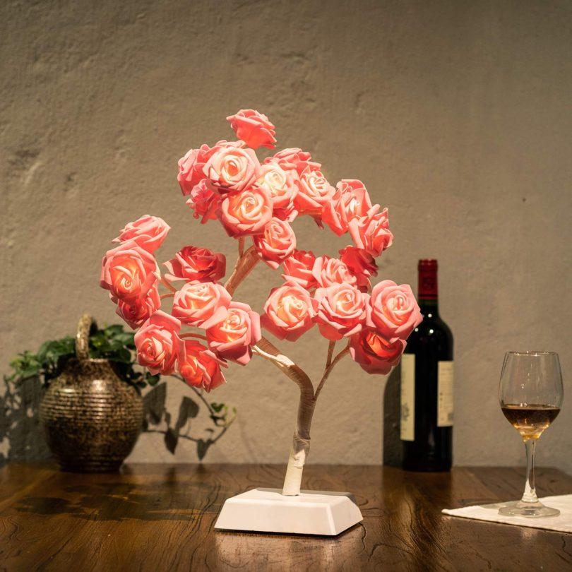Bolylight LED Table Lamp Adjustable Rose Flower Desk Lamp