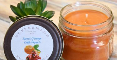 Sweet Orange Chili Pepper 4 oz Soy Mason Jar Candle