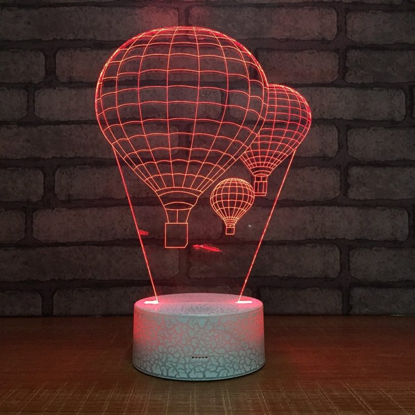 Hot Air Balloon Night Light 3D Visual LED Desk Lamp