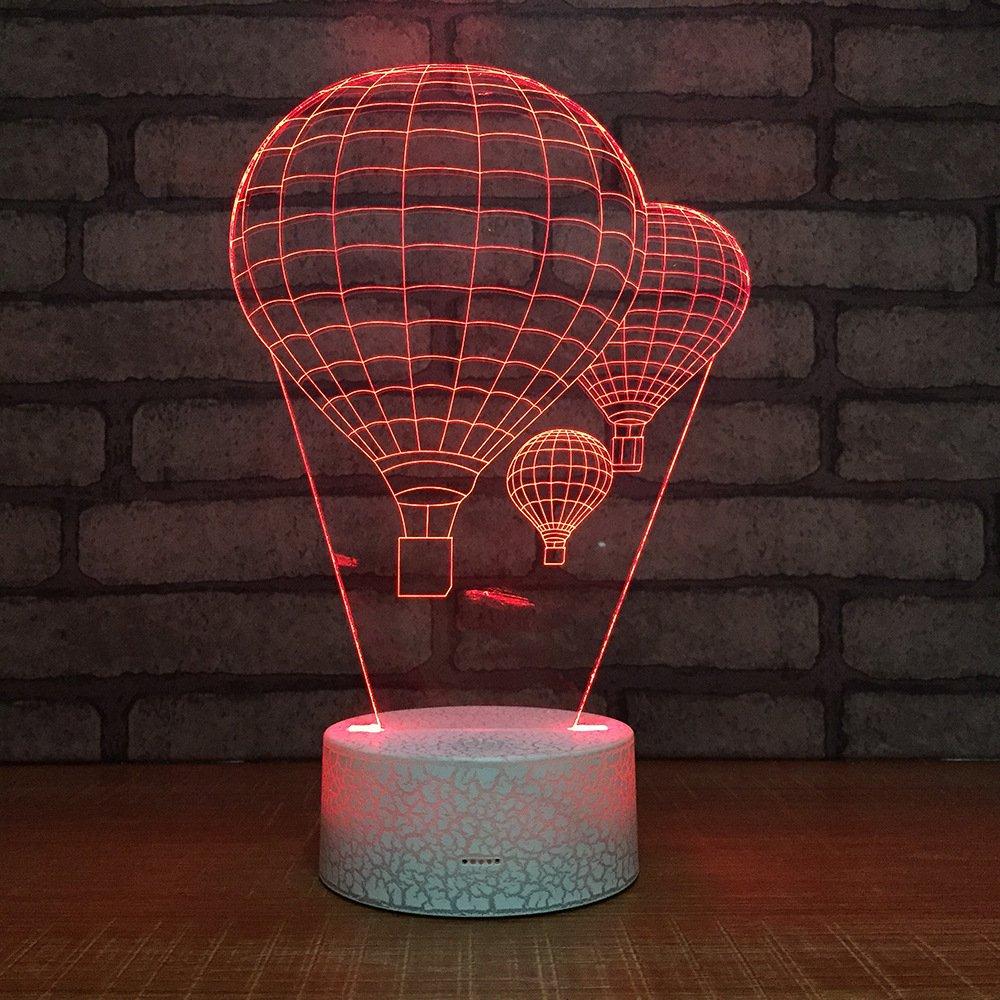 Hot Air Balloon Night Light 3D Visual LED Desk Lamp