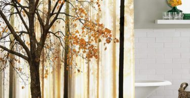 Ambesonne Shower Curtain Fall Trees Print Mom Gift