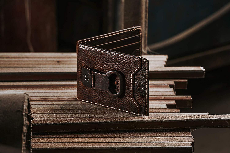HOJ Co. Bottle Opener Front Pocket Wallet-Full Grain Leather
