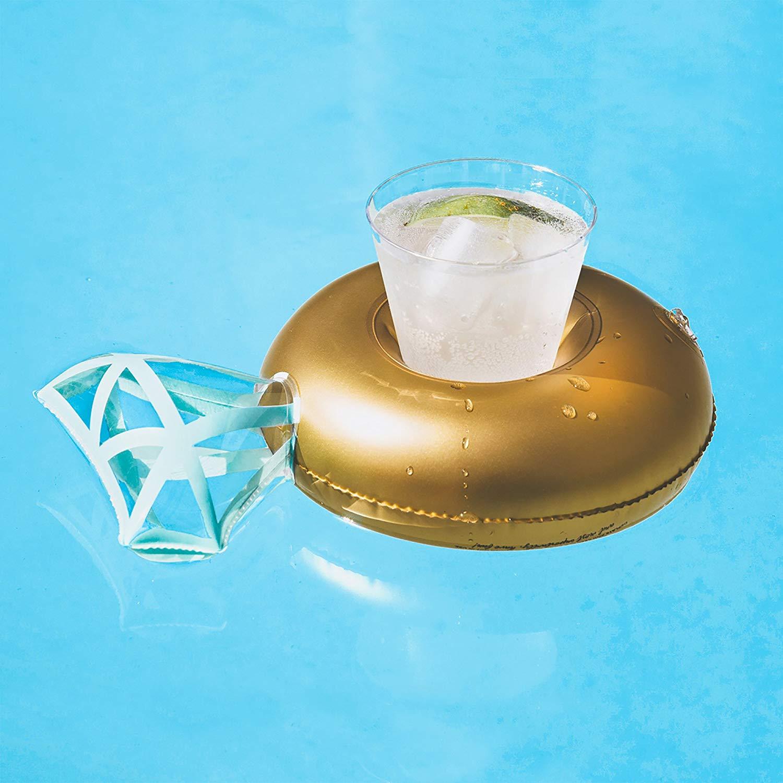 Gold Diamond Pool Rings