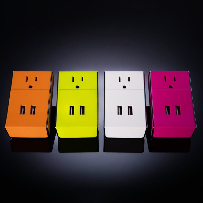 WALLY Dual USB Wall Charger + Standard AC Outlet by Schatzii