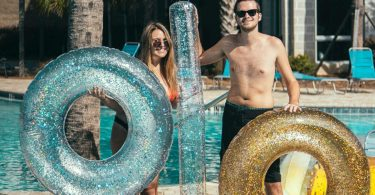 Gold Glitter 48″ GIANT Pool Tube