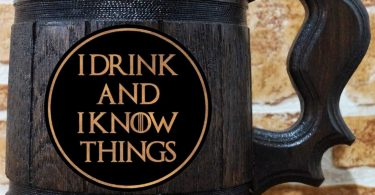 I Drink and I Know Things Beer Mug