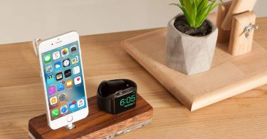 Watch Dock, Docking Station & Wooden Stand compatible with Apple Watch Series