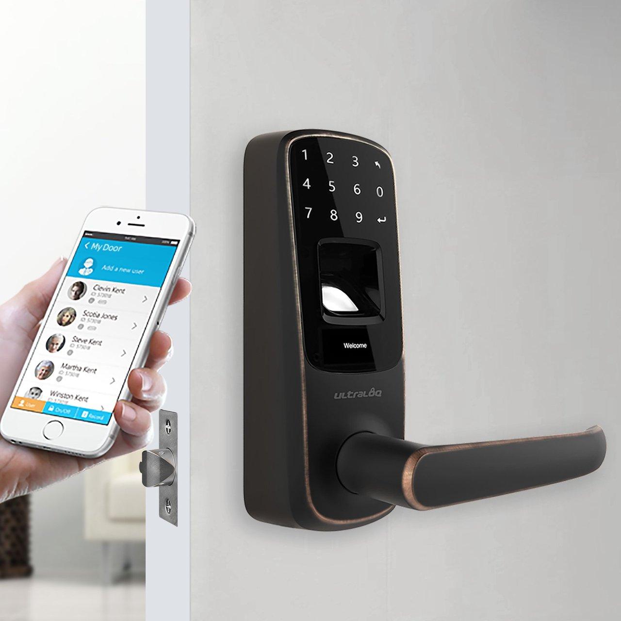 Ultraloq UL3 BT Bluetooth Enabled Fingerprint & Touchscreen Smart Lock