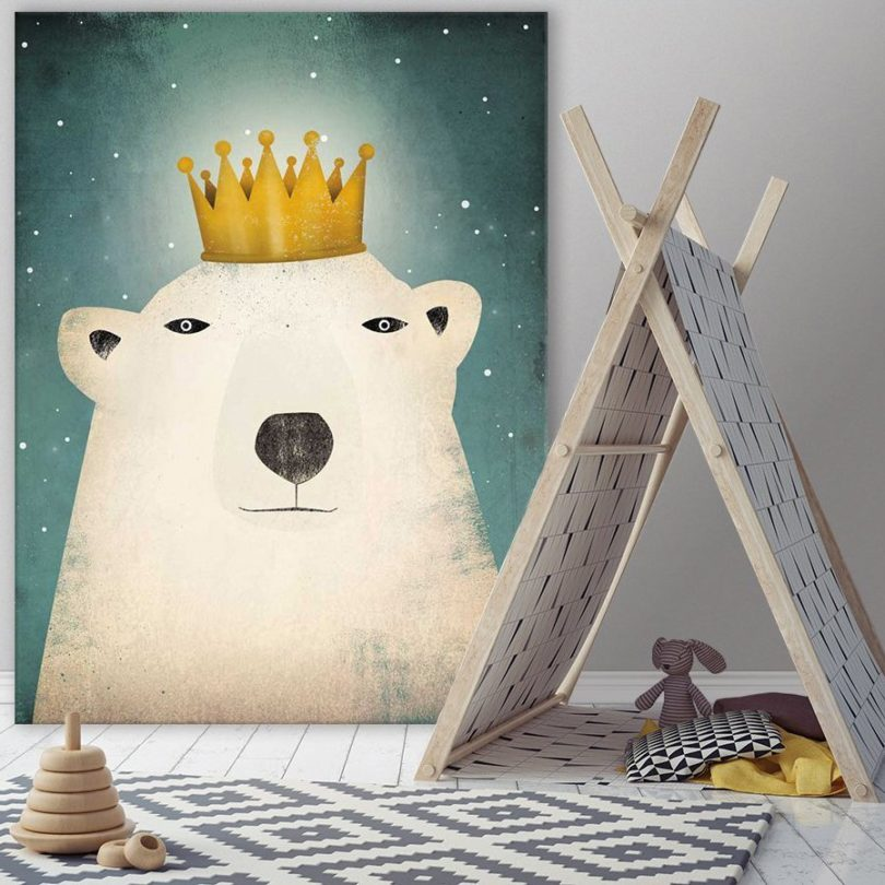 Polar King Giant Canvas Print