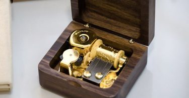Black Walnut Wood Music Box