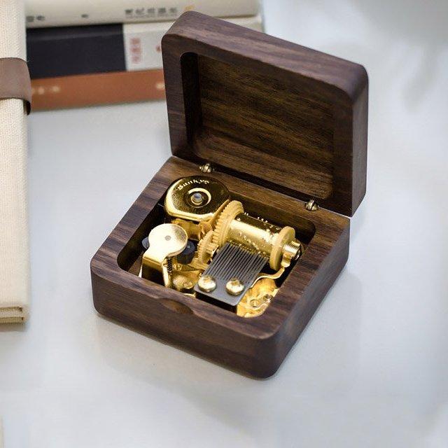 Black Walnut Wood Music Box