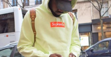 Supreme Box Logo Hooded Sweatshirt Pale Lime