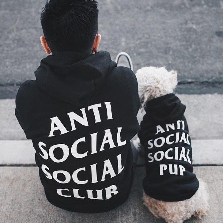 Anti Social Social Pup Hoodie