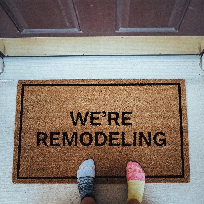 Matsy Funny Doormat – We're Remodeling