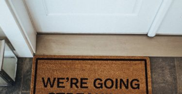 We're Going Streaking! Brown Coir Doormat