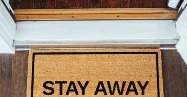 Stay Away Brown Coir Doormat