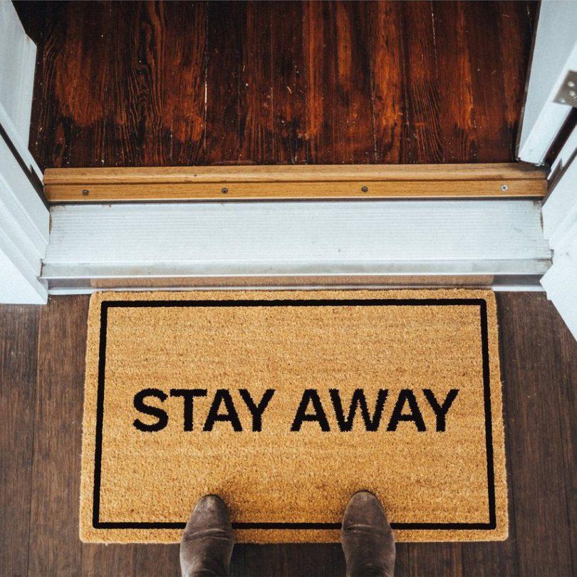 Stay Away Brown Coir Doormat