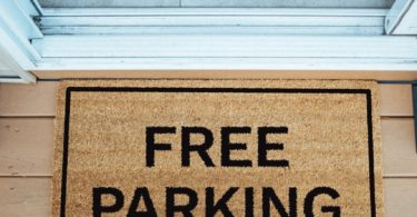 Free Parking Brown Coir Doormat