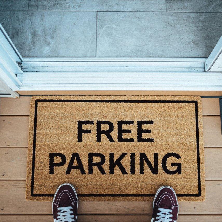 Free Parking Brown Coir Doormat