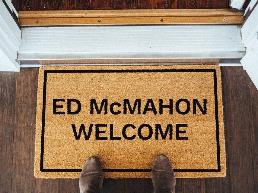 Ed McMahon Welcome Brown Coir Doormat