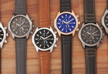 Breed Lacroix Chronograph Leather-Band Watch