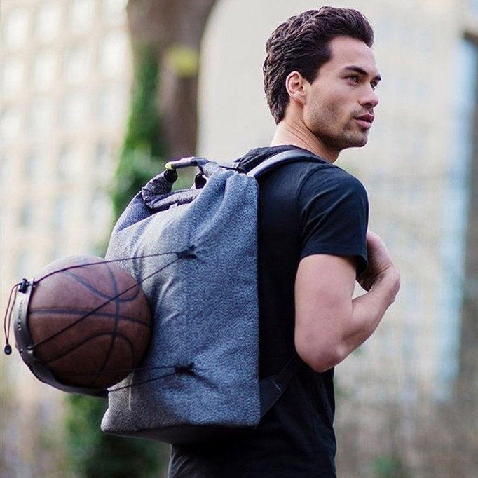 Grey Bobby Urban Cut-Proof Anti-Theft Backpack