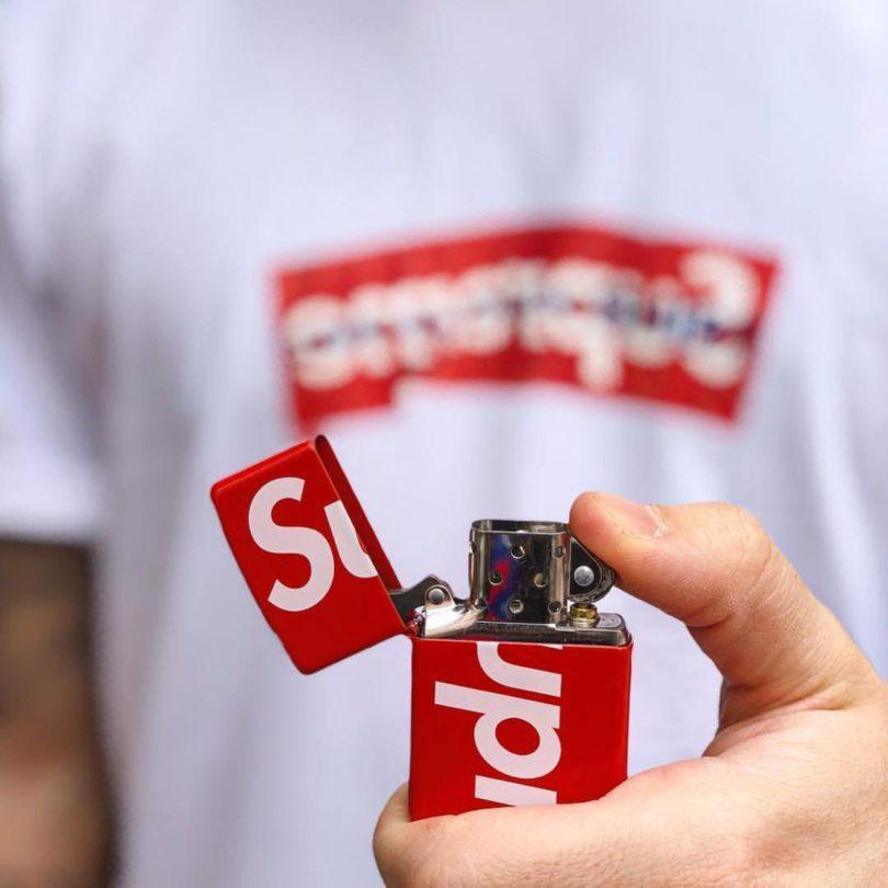 Supreme Logo Zippo Redv