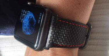 Carbon Fiber Leather Print Apple Watch Band