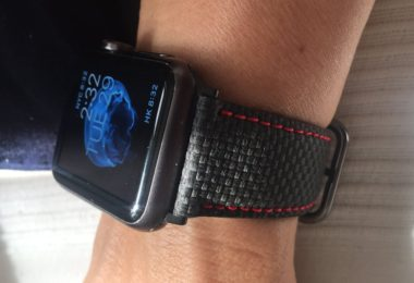 Carbon Fiber Leather Print Apple Watch Band