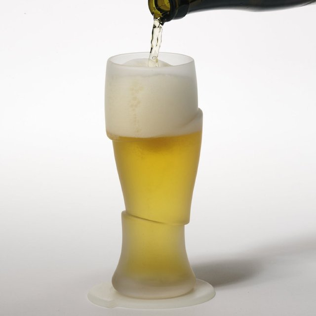 Sliced Cold Beer Glasses
