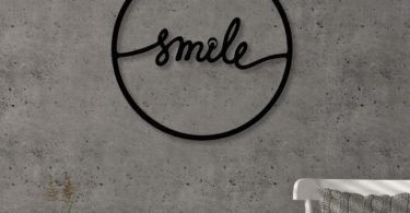 Smile Modern Metal Wall Art