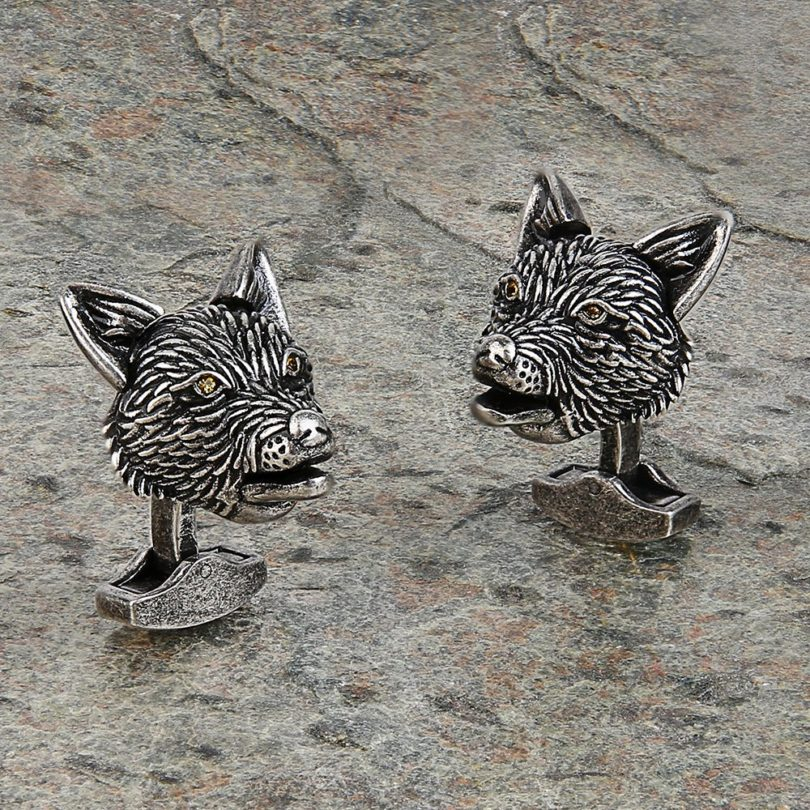 Mechanical Moving Fox Cufflinks