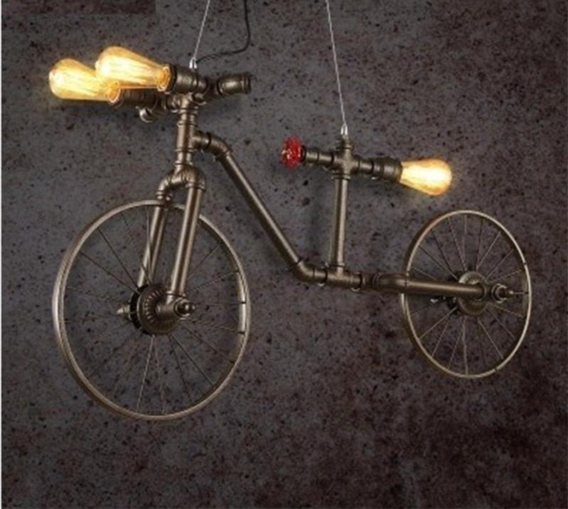 Retro Loft Style Bicycle Metal Lamp