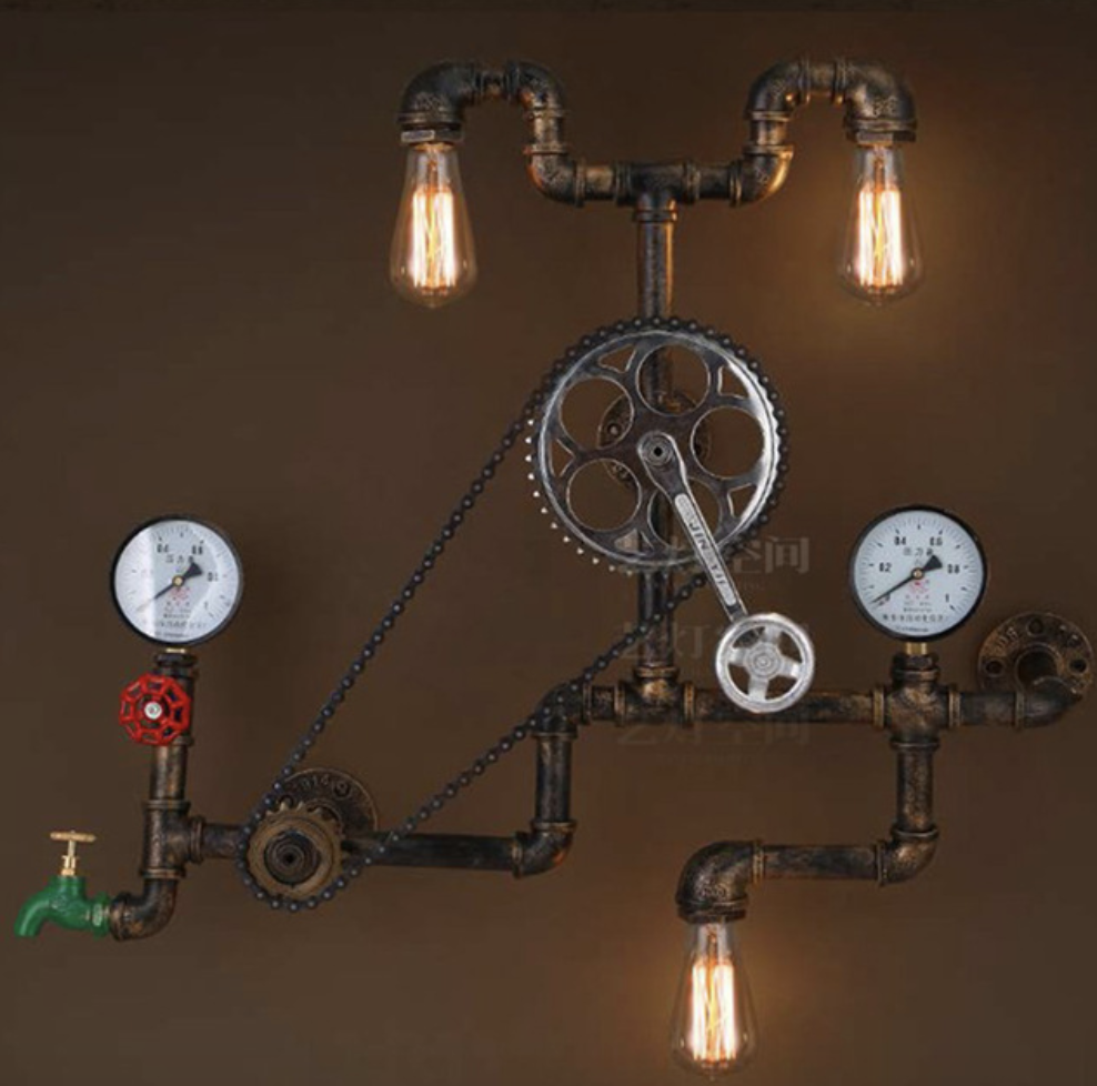 Vintage Gear Wall Light Fixtures Industrial Lighting
