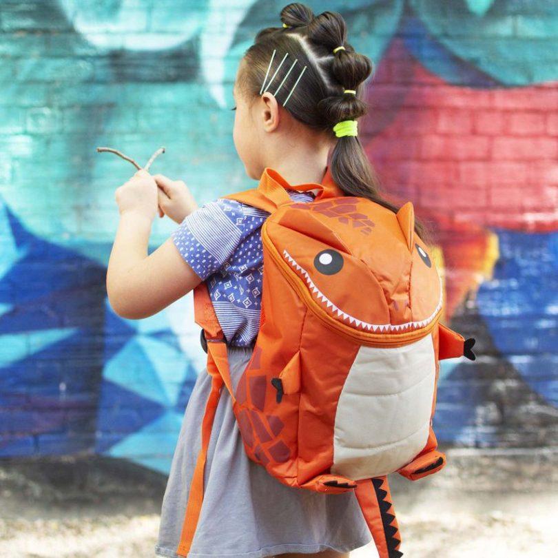 Orange-o-saurus Backpack
