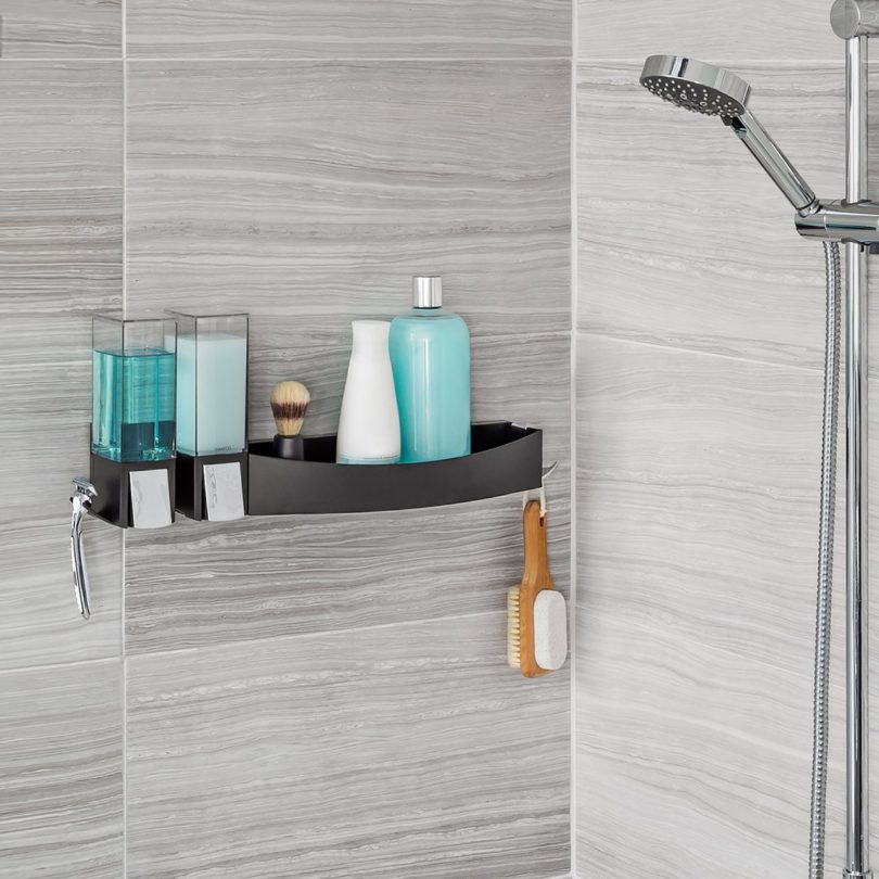 CLEVER Double Dispenser + Flip Shower Shelf