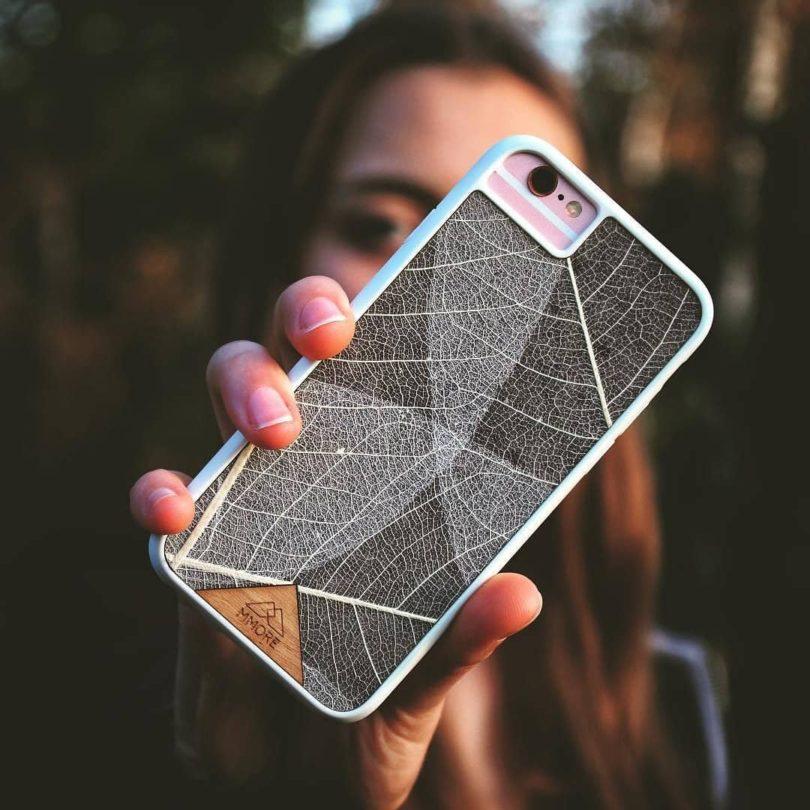 Handcrafted Organika Skeleton Leaves Phone Case
