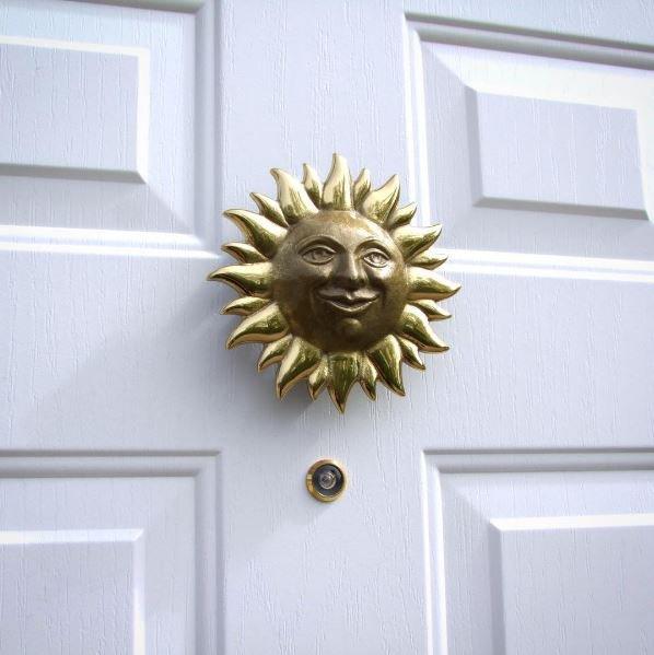 Smiling Sunface Door Knocker