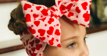 Hearts Head Wrap for Babies/Toddlers by Simplybow