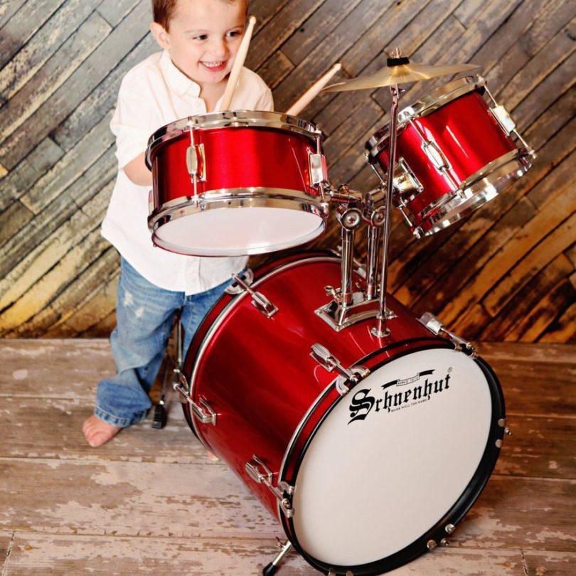 Schoenhut 5-Piece Drum Set Red