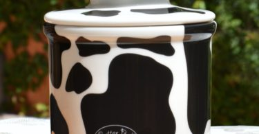 Cow Pattern Butter Bell Crock