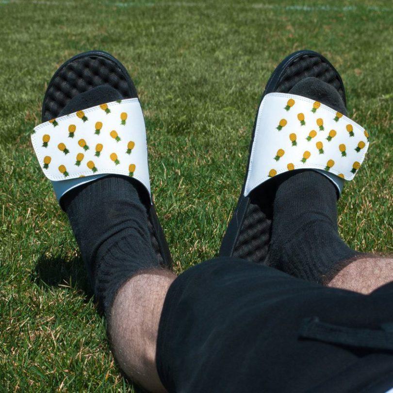 Pineapple Pattern Slide Sandals