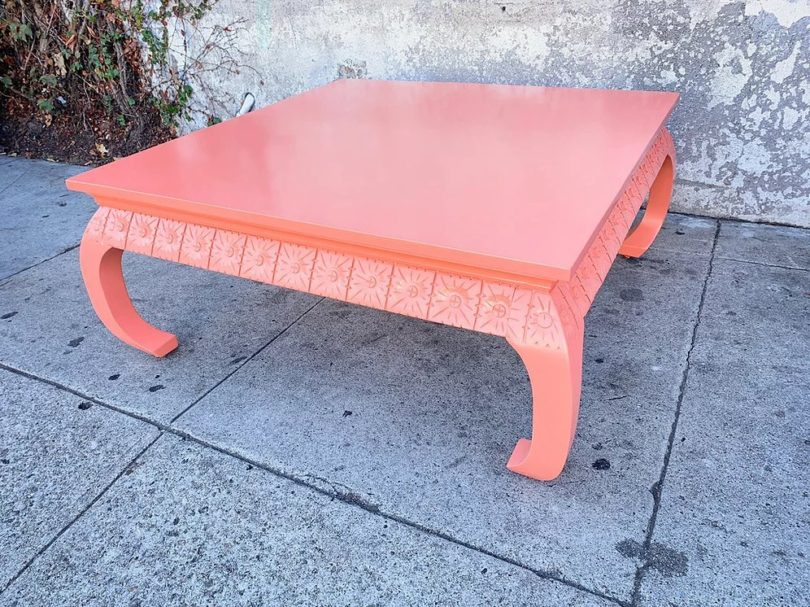 Vintage Corral Lacquered Hollywood Regency Coffee Table