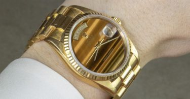 Rolex 18K Yellow Gold Day-Date President with Tiger's Eye Dail