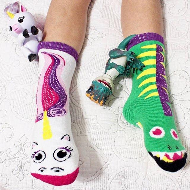 Dragon & Unicorn Mismatched Socks