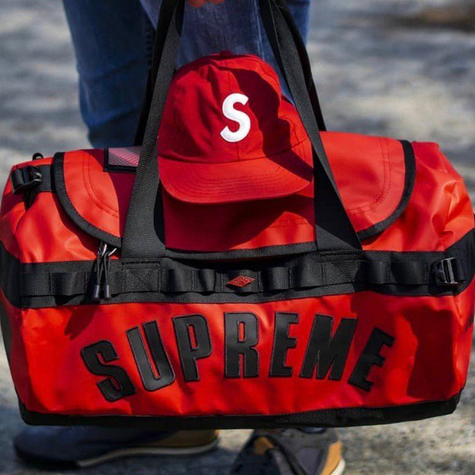 Supreme x The North Face Arc Logo Small Base Camp Duffle Bag