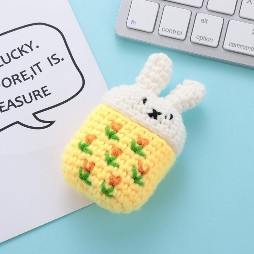 Knit Cartoon Protective Sweater for Apple AirPods