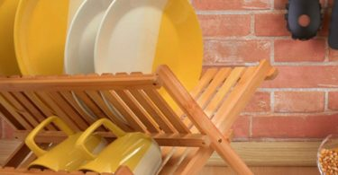 Eco-friendly Folding Bamboo Dish Rack